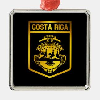 Costa Rica-Emblem Silbernes Ornament