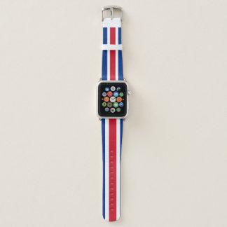 Costa Rica-Flagge Apple Watch Armband