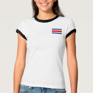 Costa Rica-Flagge + Karten-T - Shirt