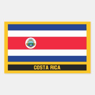 Costa Rica-Flagge Rechteckiger Aufkleber