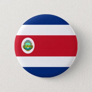 Costa Rica-Flaggenknopf Runder Button 5,7 Cm