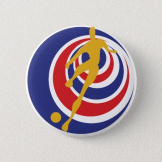 Costa Rica futbol Runder Button 5,7 Cm