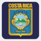 """Costa Rica-Gold"" Geschenk-Ideen Quadratischer Aufkleber"