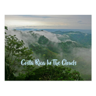 """Costa Rica in den Wolken"" Postkarte"
