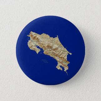 Costa Rica-Karten-Knopf Runder Button 5,1 Cm