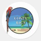 Costa Rica - klassischer runder Aufkleber, glatt Runder Aufkleber