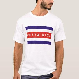 Costa Rica Landesflagge-Textname T-Shirt
