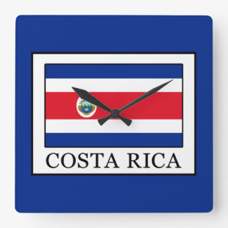 Costa Rica Quadratische Wanduhr
