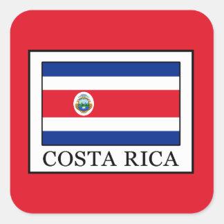 Costa Rica Quadratischer Aufkleber