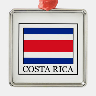 Costa Rica Quadratisches Silberfarbenes Ornament