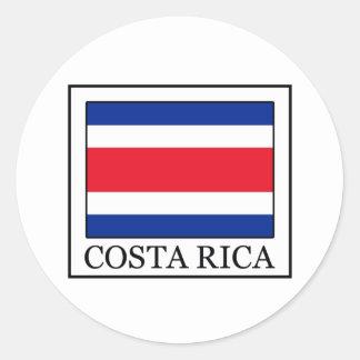 Costa Rica Runder Aufkleber