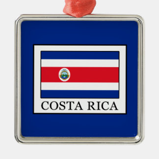Costa Rica Silbernes Ornament
