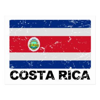 Costa Rica Vintage Flagge Postkarte