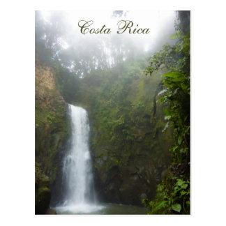 Costa Rica-Wasserfall-Postkarte Postkarte