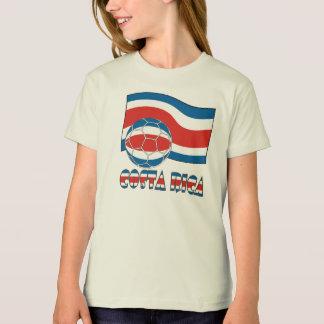 Costa Rican Fußball-Ball und zivile Flagge T-Shirt