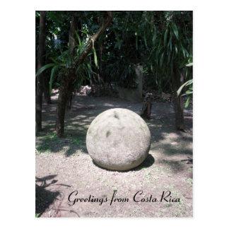 Costa Rican Steinbereich Postkarte