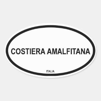 COSTIERA AMALFITANA OVALER AUFKLEBER
