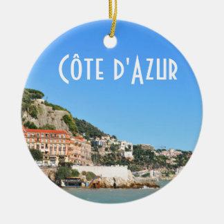 Côte d'Azur in Nizza, Frankreich Keramik Ornament