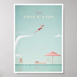 Côte d'Azur Vintages Tauchreise-Plakat Poster