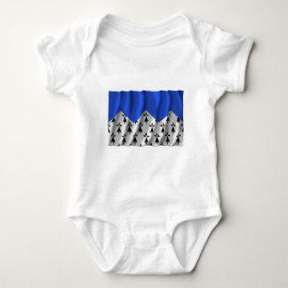 Côtes-d'Armor wellenartig bewegende Flagge Baby Strampler