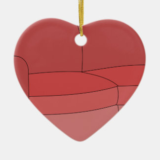 Couch Keramik Herz-Ornament