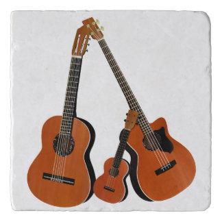 Counrty Volksmusik-akustische Instrumente Töpfeuntersetzer