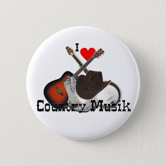 country musik runder button 5,1 cm