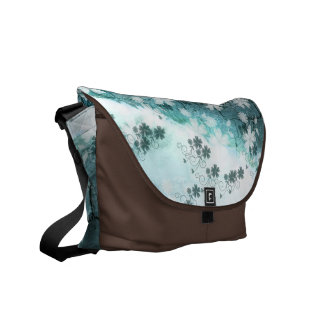 Courrier Bote Blume des Schnees blaue hellblaue Ta Kurier Tasche