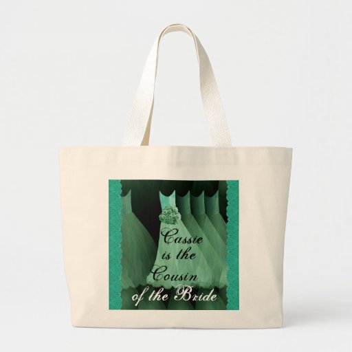 Cousin der Braut-Grün-Brautjungfern-Kleider Taschen