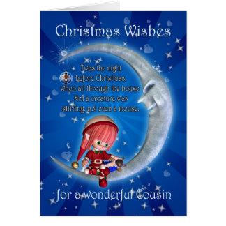 Cousin, Nacht vor Weihnachten mit dem Elf Karte