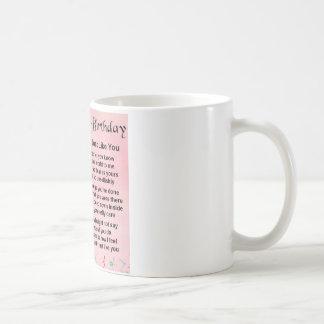 Cousingedicht - Rosa - 40. Geburtstag Kaffeetasse