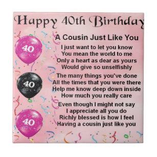 40 Geburtstag Fliesen Zazzle De