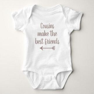 Cousins machen die besten Freunde Baby Strampler