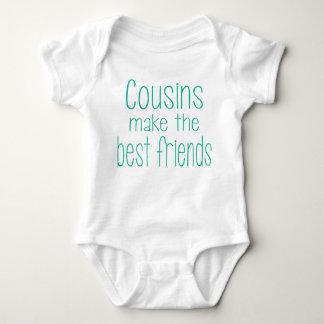 Cousins stellen die besten Freunde Baby Strampler