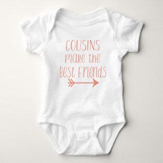 Cousins stellen die besten Freunde Körper-Anzug Baby Strampler