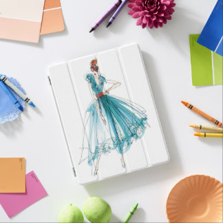 Couture-Mode-Skizze wilden Apples | Haute iPad Hülle