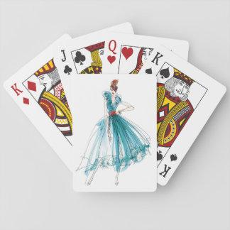 Couture-Mode-Skizze wilden Apples | Haute Spielkarten