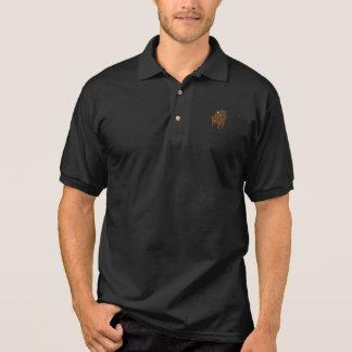 Covey-Logik-Büffel-Schwarzes Polo Shirt
