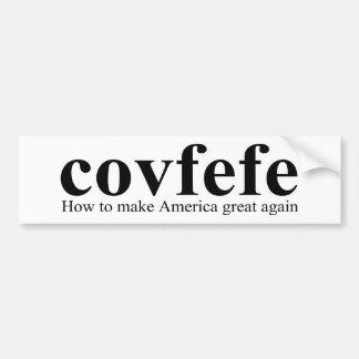 Covfefe Definitions-Trumpf Autoaufkleber