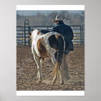 Cow Pferdeboy postieren Poster