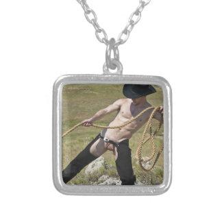 Cowboy 16021b-RA Halskette Mit Quadratischem Anhänger