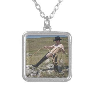 Cowboy 16023-RA Halskette Mit Quadratischem Anhänger