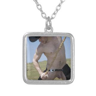 Cowboy 16070-RA Halskette Mit Quadratischem Anhänger