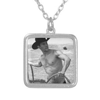 Cowboy 16092bw-RA Halskette Mit Quadratischem Anhänger