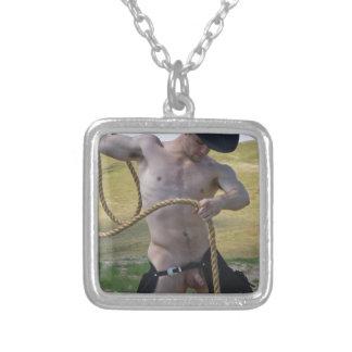 Cowboy 16098-RA Halskette Mit Quadratischem Anhänger