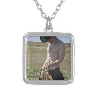 Cowboy 16101-RA Halskette Mit Quadratischem Anhänger