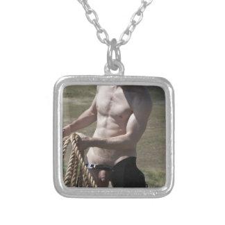 Cowboy 16102-RA Halskette Mit Quadratischem Anhänger