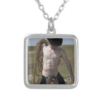 Cowboy 16148-RA Halskette Mit Quadratischem Anhänger