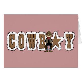 Cowboy-alles- Gute zum Geburtstagwünsche - Western Karte