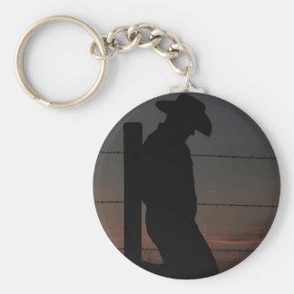 Cowboy am Sonnenuntergang Schlüsselanhänger